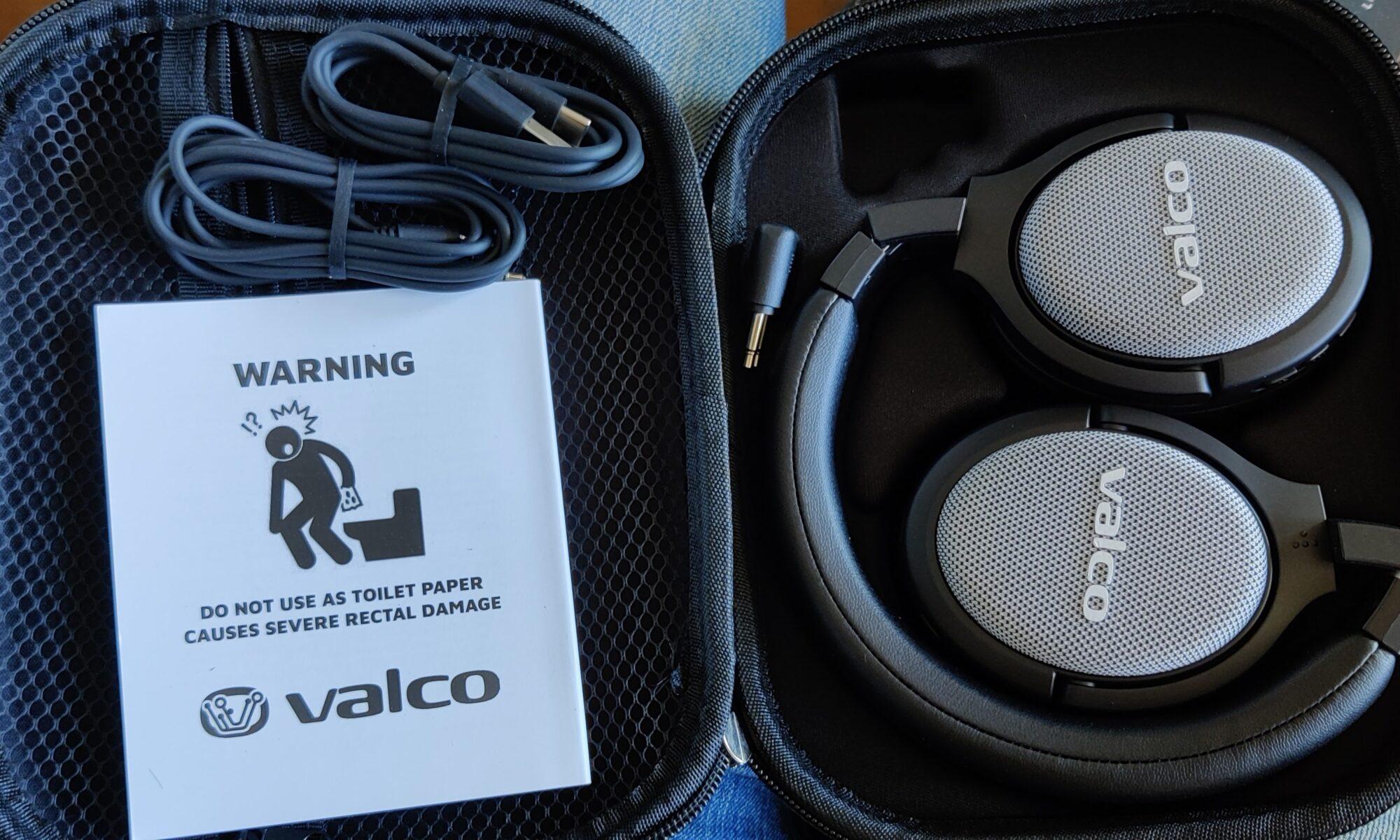 Valco VMK20 headphones in open packaging